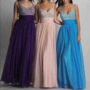 Dave & Johnny Prom Gown 7376 in Blush